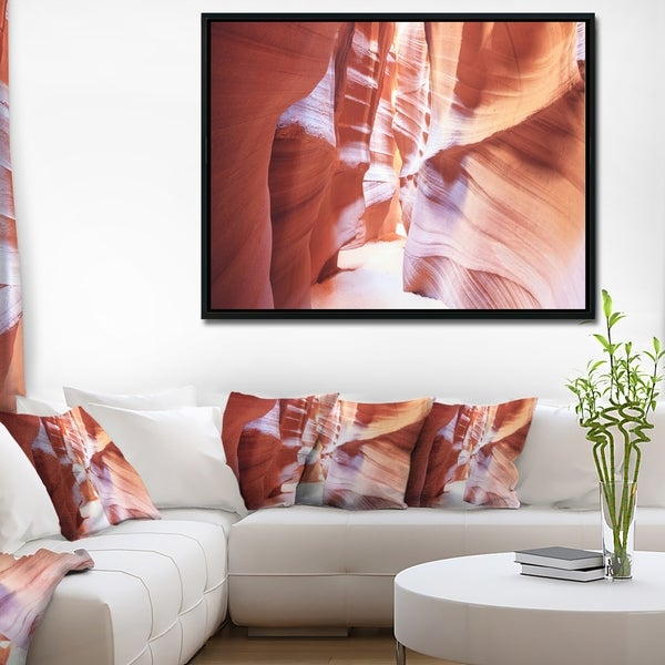 Designart 'Panoramic View Antelope Canyon' Landscape Photography Framed Canvas Print