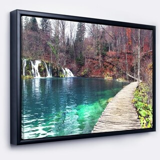 Designart 'Plitvice Lakes National Lark' Landscape Photography Framed Canvas Art Print