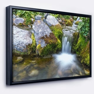 Designart 'Summer Water Stream' Landscape Photography Framed Canvas Art Print