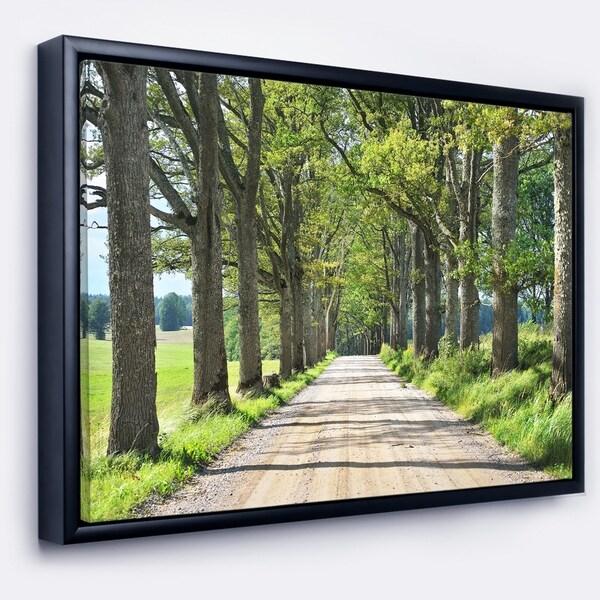Designart 'Old Road through Alley' Landscape Photography Framed Canvas Art Print