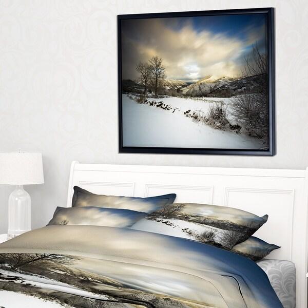 Designart 'Snow Storm in Spain' Landscape Photography Framed Canvas Art Print