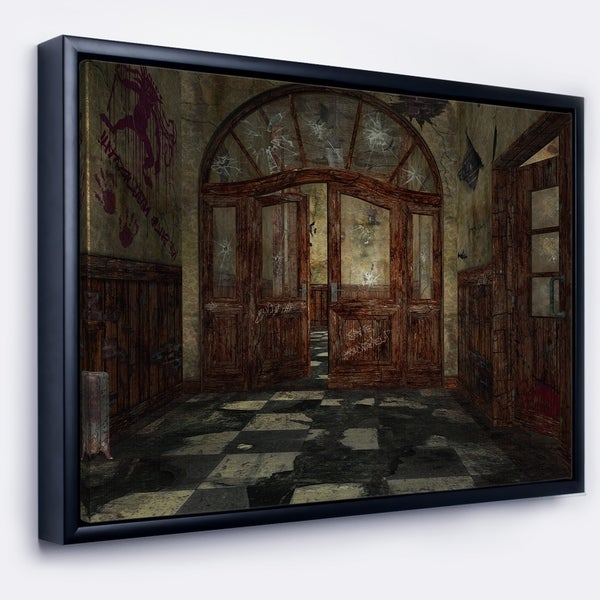 Designart 'Abandoned Interior' Landscape Painting Framed Canvas Artwork Print