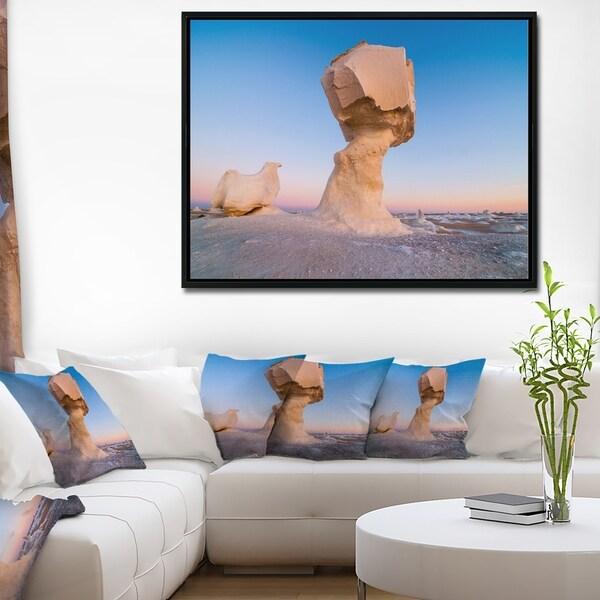 Designart 'Wind Eroded Rock Formation' Landscape Photo Framed Canvas Art Print