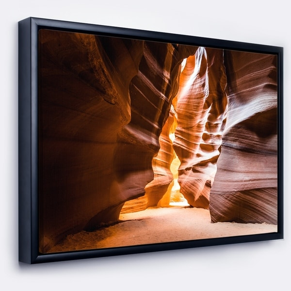 Designart 'Antelope Canyon in Sunshine' Landscape Photo Framed Canvas Art Print