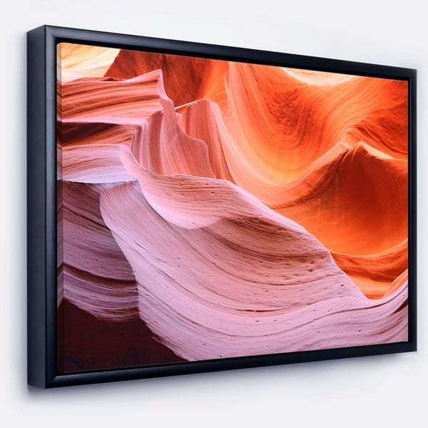 Designart 'Color Layers in Antelope Canyon' Landscape Photography Framed Canvas Print