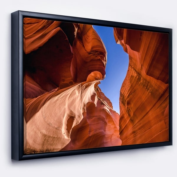 Designart 'Grand Antelope Canyon' Landscape Photography Framed Canvas Print