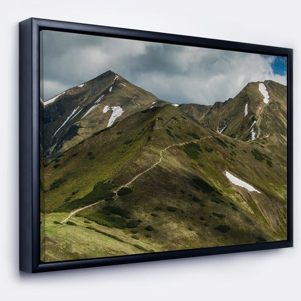 Designart 'Trekking Patch in Tatra Mountains' Landscape Framed Canvas Art Print