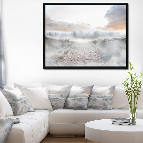 Designart 'Discontinued product' Landscape Photo Framed Canvas Art Print
