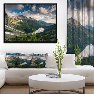Designart 'Summer at Polish Tatra Mountains' Landscape Framed Canvas Art Print