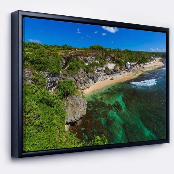 Designart 'Balangan Beach Bali Indonesia' Seascape Framed Canvas Art Print