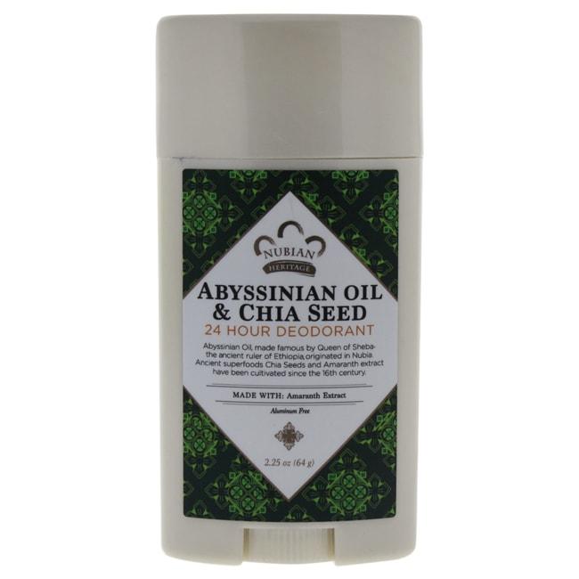 Nubian Heritage Abyssinian Oil & Chia Seed 24 Hour Deodor...
