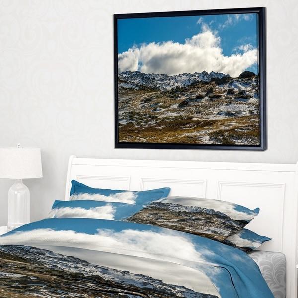 Designart 'Wide View of Kosciuszko National Park' Large Seashore Framed Canvas Print