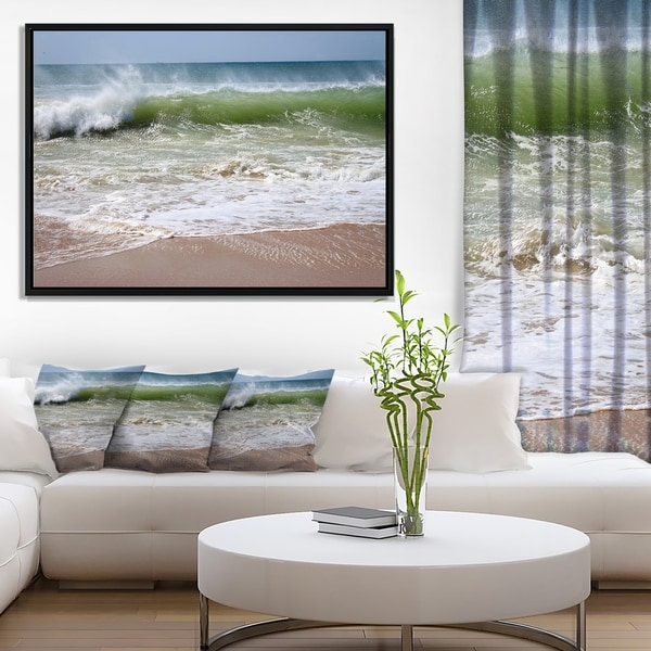 Designart 'Discontinued product' Seascape Framed Canvas Art Print