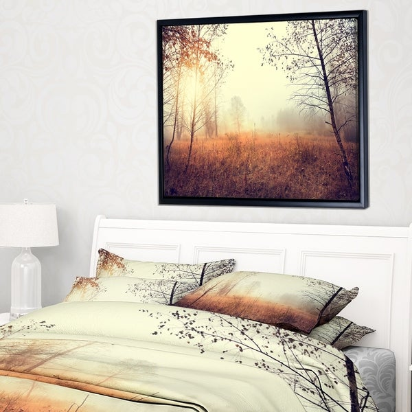 Designart 'Beautiful Natural Landscape with Trees' Landscape Framed Canvas Art