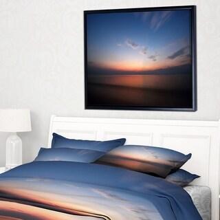 Designart 'Ko Samui Sea Sunrise Panorama' Oversized Beach Framed Canvas Artwork