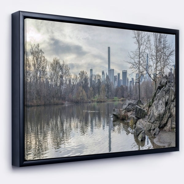 Designart black and white central park nyc landscape print