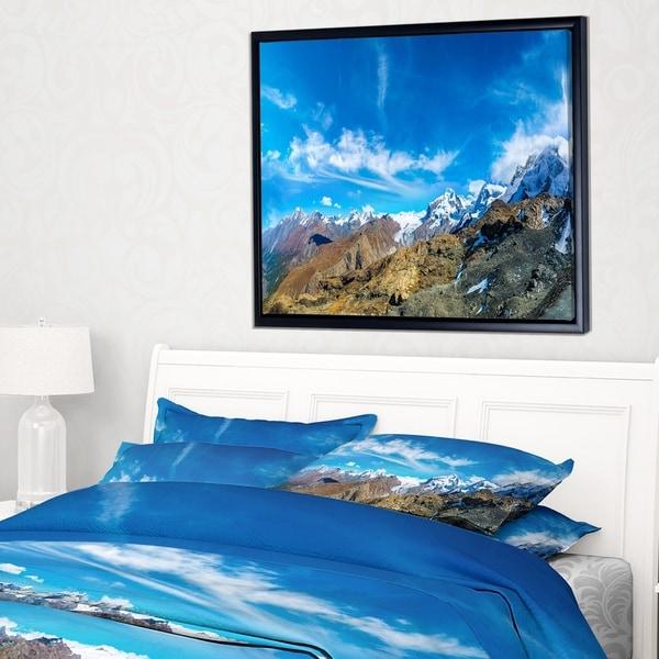 Designart 'Alps Mountains in Switzerland' Landscape Framed Canvas Art Print