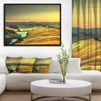 Designart 'Rural Landscape Italy Panorama' Landscape Framed Canvas Art