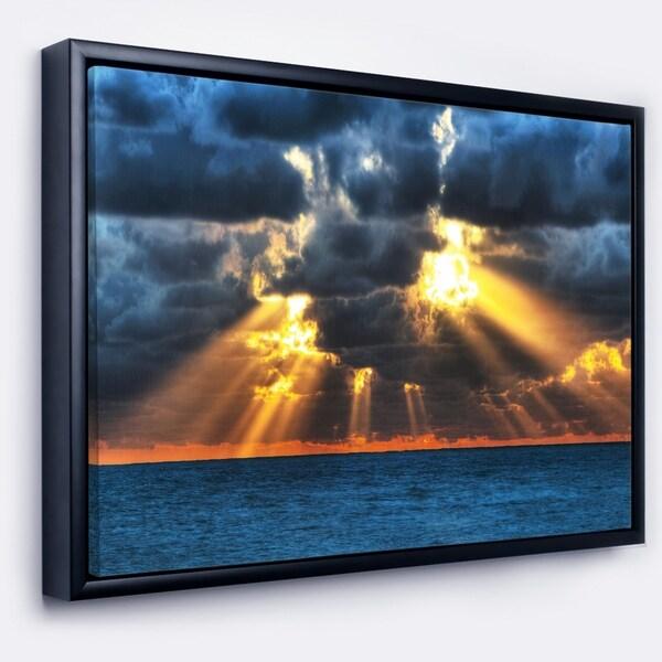 Designart 'Fight Between Dark and Light' Landscape Artwork Framed Canvas