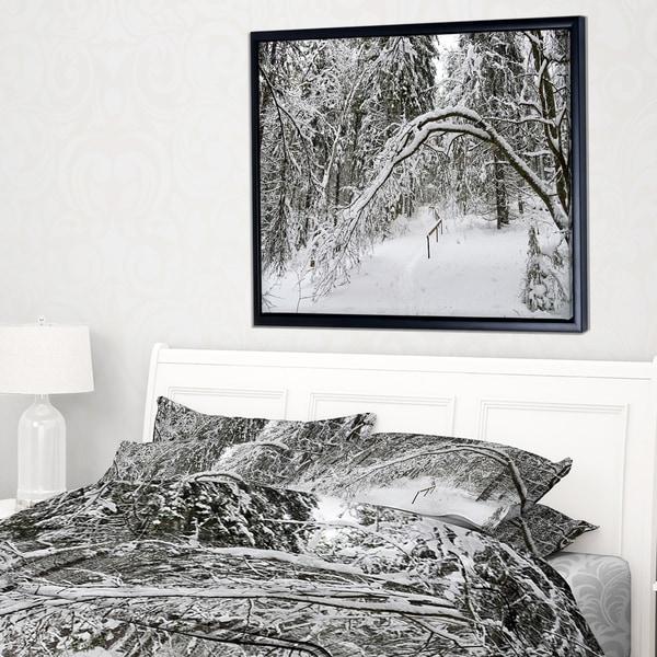 Designart 'Discontinued product' Modern Forest Framed Canvas Art