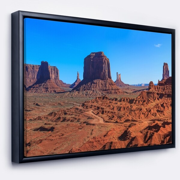 Designart 'Monument Valley National Park' Landscape Artwork Framed Canvas