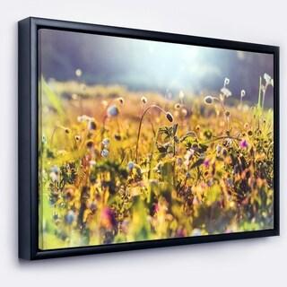 Designart 'Summer Flowers on Sunny Day' Floral Art Framed Canvas Print