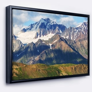Designart 'Beautiful Caucasus Mountains' Landscape Framed Canvas Art Print