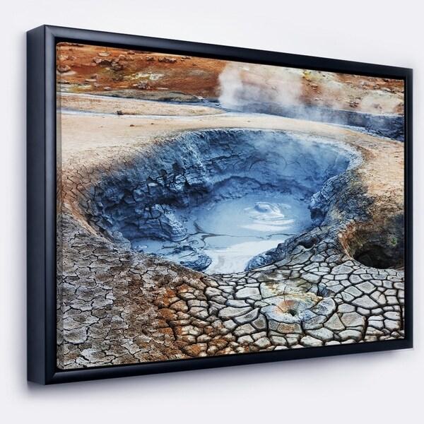 Designart 'Beautiful Fumarole Field in Iceland' Landscape Wall Art on Framed Canvas
