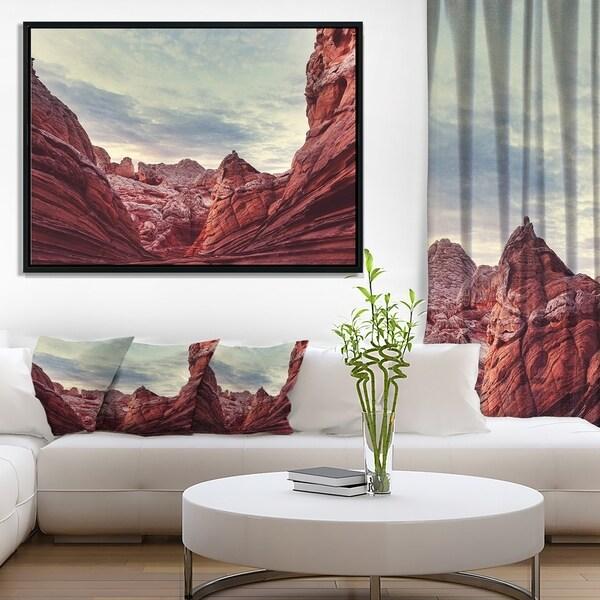 Designart 'Vermillion Cliffs National Monument Park' Landscape Wall Art on Framed Canvas