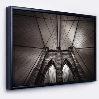 Designart 'Brooklyn Bridge in NYC USA' Extra Large Framed Canvas Art Print