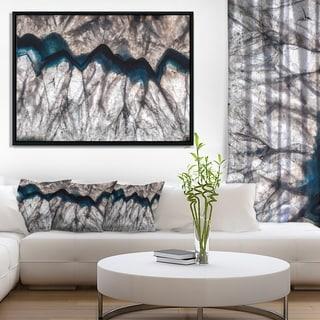 Designart 'Mineral Macro' Abstract Framed Canvas Wall Art Print