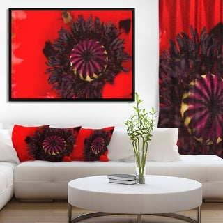Designart 'Garden in Full Bloom on Summer Day' Flowers Framed Canvas Wall Artwork