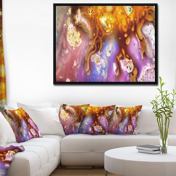 Designart 'Colorful Precious Patterns' Abstract Framed Canvas Art Print