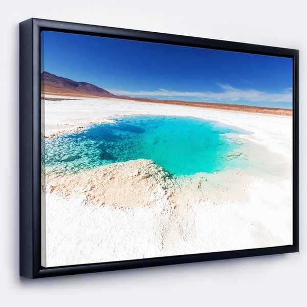 Designart 'Beautiful Salinas Lake in Argentina' Large Landscape Framed Canvas Art