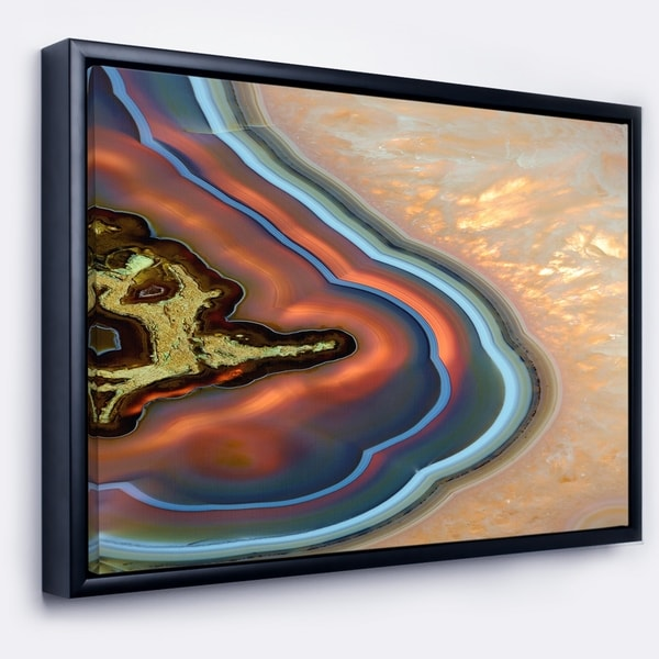 Designart 'Abstract Mineral Texture' Abstract Framed Canvas Art Print
