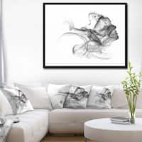 Designart 'Woman and Smoke Double Exposure' Portrait Framed Canvas Art Print