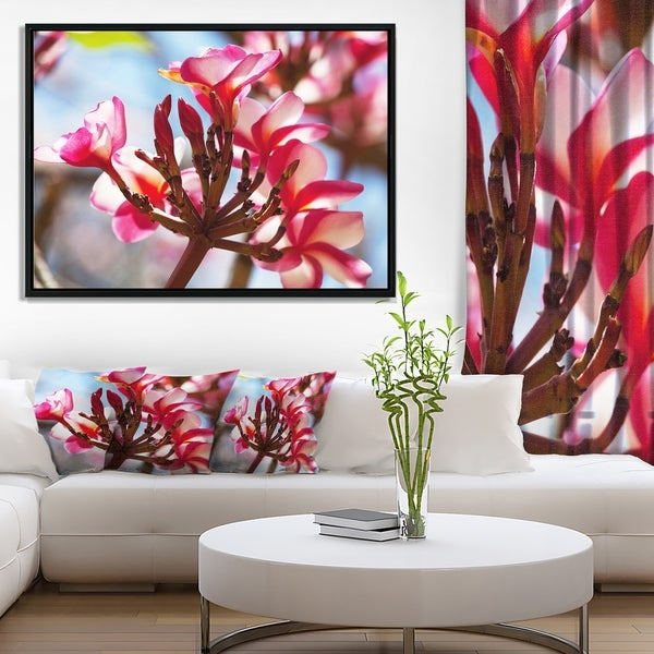 Designart 'Bunch of Beautiful Tropical Flowers' Floral Framed Canvas Art print