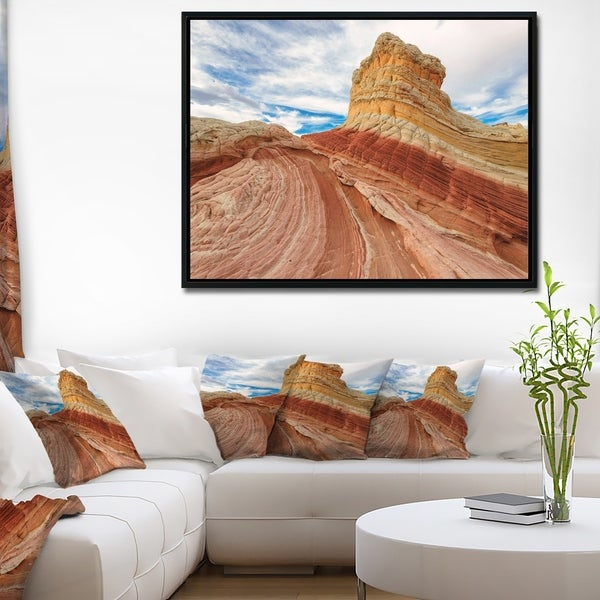 Designart 'Paria Plateau in Northern Arizona' Landscape Framed Canvas Art Print