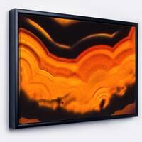 Designart 'Agate Macro Orange' Abstract Framed Canvas Wall Art Print