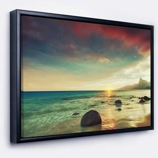 Designart 'Discontinued product' Large Seashore Framed Canvas Art Print