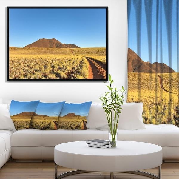 Designart 'Namibrand Desert Landscape' Landscape Framed Canvas Art Print