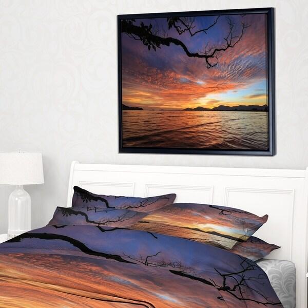 Designart 'Beautiful Sunset Beach In Phuket' Seashore Framed Canvas Art Print