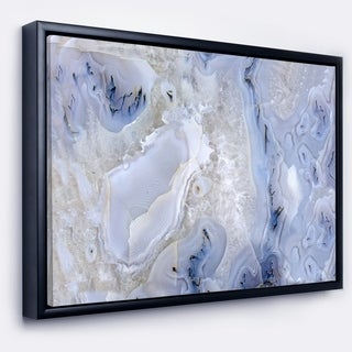 Designart 'Agate Stone Background' Abstract Framed Canvas Wall Art Print