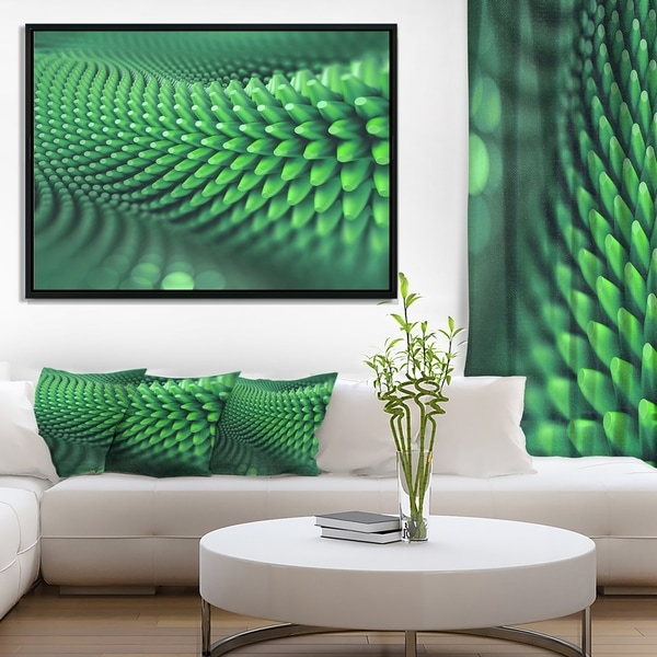 Designart 'Abstract 3D Spiny Background' Abstract Framed Canvas Wall Art