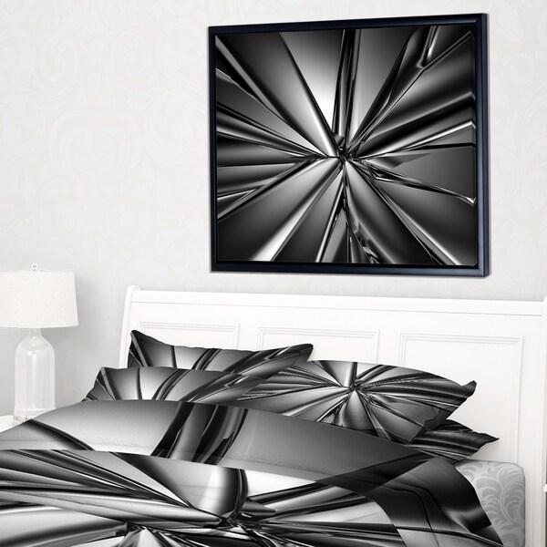 Designart 'Futuristic Crystal Background' Abstract Framed Canvas Art Print