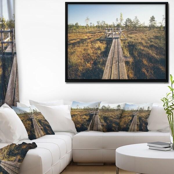 Shop Designart \'Retro Grainy Film Look Footpath\' Large Landscape ...