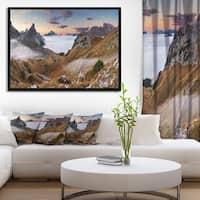 Designart 'Beautiful Summer Panorama' Landscape Framed Canvas Art Print
