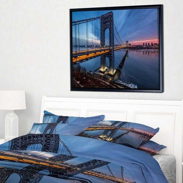 Designart 'Discontinued product' Large Cityscape Art Print on Framed Canvas