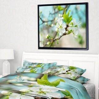 Designart 'Beautiful Cherry Blossom n Spring' Floral Framed Canvas Art Print