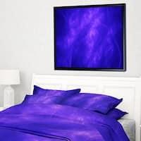 Designart 'Blue Fractal Abstract Pattern' Abstract Art on Framed Canvas